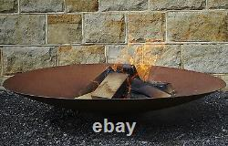 100cm Classic Corten Steel Fire Pit Burner Bowl Garden Heater Camping Bonfire