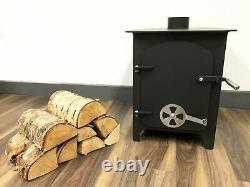 12 Kw Log Burner Multifuel Clean Burning Woodburner Stove Fireplace Heating Fire