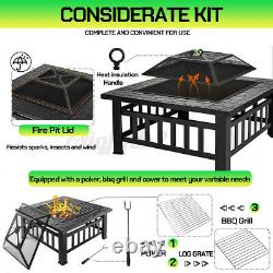 32'' Large Outdoor Garden BBQ Fire Pit Large Firepit Brazier Stove Patio Heater