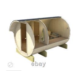 330cm Outdoor Garden Barrel Sauna with Harvia Electric / Wood Fired heater