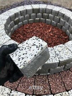 58 cm inner Fire Pit granite concrete Fire place slab white DIY Garden Patio