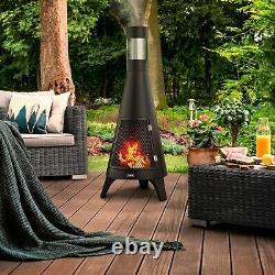 Apollo Outdoor Wood Burner Chimnea Patio Heater BBQ Grill Fire Pit Garden Heater