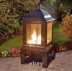 Aspen Log Burner Chiminea / Fire Pit / Garden Patio Heater