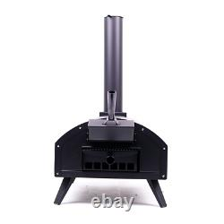 Bbq-bits Bella Black Wood Fired Outdoor Pizza Oven Barbecue Grill Like Ooni