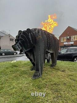 Bear Sculpture Bbq Fire Pit Planter