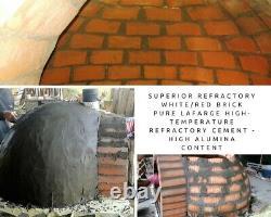 Brick outdoor wood fired Pizza oven 100cm Pro deluxe black ceramic + cast door