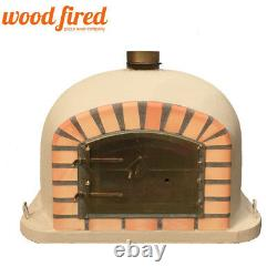 Brick outdoor wood fired Pizza oven 100cm Sand Deluxe model