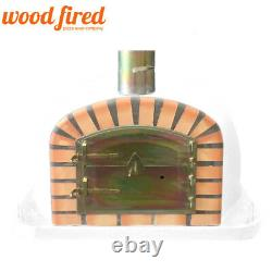 Brick outdoor wood fired Pizza oven 100cm x 100cm Deluxe extra model