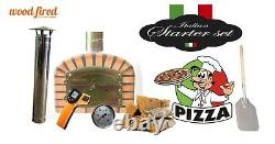 Brick outdoor wood fired Pizza oven 100cm x 100cm Deluxe extra model and package
