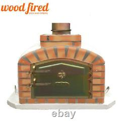 Brick outdoor wood fired Pizza oven 70cm white exclusive model