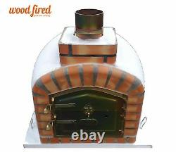 Brick outdoor wood fired Pizza oven 80cm white exclusive model
