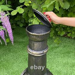 Chimenea Outdoor Heater Patio Garden Fire Pit Burner Bronze Cast Iron Chiminea