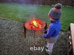 Corten Steel Elevated Fire Pit/Fire Bowl/Garden Burner/Patio Heater/Barbecue