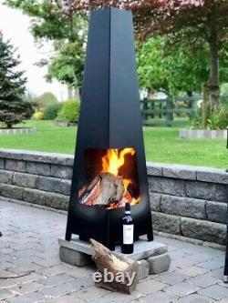 Custom logo fire pit, chiminea, football, log wood burner, firepit, patio heater