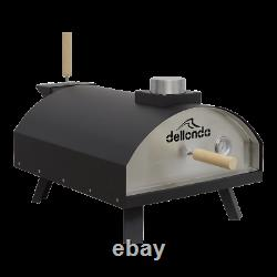 Dellonda Pizza Oven & Outdoor Portable Garden Wood-Fired Charcoal Steel Smoker