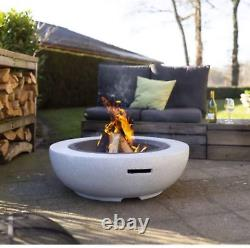 EXPRS DEL GardenCo Round Fire Pit Outdoor Garden Patio Wood and Charcoal Burner