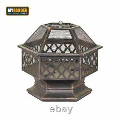 EXTRA LARGE Steel Outdoor Fire Pit Bowl Round Patio Fire Outdoor Log Coal Fire