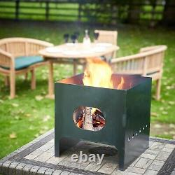 Fire Pit & 12 Pizza Oven, Wood, Coal, UK Made Outdoor Cooking, Camping