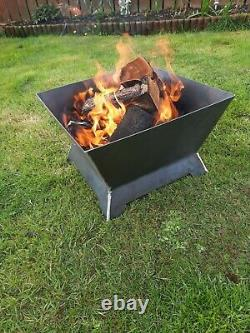 Fire Pit BBQ Outdoor Garden patio mild steel iron camping rustic