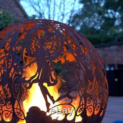 Fire Pit Four Elements- Firepit Ball Pit Patio Heater Fire Globe Bowl Christmas
