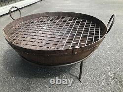 Fire Pit Kadai bowl XL Kadai Fire Pit BBQ Wood Burner Garden Fire Pit 80cm