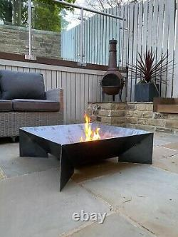 Fire Pit With Mesh Grill Outdoor Garden