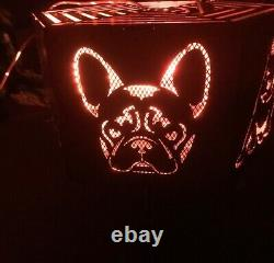 French Bulldog hexagonal fire pit with grill (Frenchie)