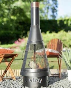 La Hacienda Colorado Steel Chiminea Fire Pit Fireplace Garden Patio Heater NEW