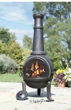 La Hacienda Monterrey Large Chiminea Fire Pit Outdoor Log Burner
