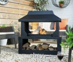 La Hacienda Outdoor Fireplace Patio Heater Fire Pits High Quality Black