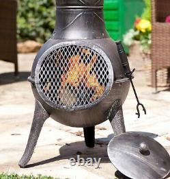 La Hacienda PANAMA Chimenea Burner Fire Pit Patio Heater Garden Chiminea