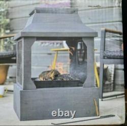 La Hacienda Square Fireplace Fire Pit Log Burner 2021 Model Garden Outdoor