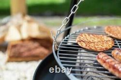 La Hacienda Tripod Fire Pit BBQ Grill Log Burner Outdoor Patio Heater Camping UK