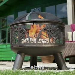 Large Fire Pit La Hacienda Alexis BBQ Log Burner Grill Chimenea Patio Fast Free