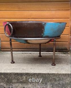Large Fire Pit Outdoor Garden Patio Round Firepit Bowl Iron Log Burner Heater