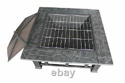 Large Firepit -BBQ Outdoor Garden Patio Heater Stove Fire Pit Brazier + Cover