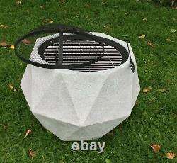 Outdoor Fire Pit Bowl & BBQ Grill Hexagon Patio Fire LARGE Outdoor Fire Pit 64cm