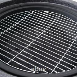 Outdoor Garden Patio Heater Stove Fire Pit Brazier BBQ Grill Bowl Faux Concrete