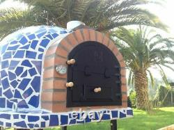 Outdoor Wood Fired Pizza Oven Mediterrani Royal Blue Mosaic