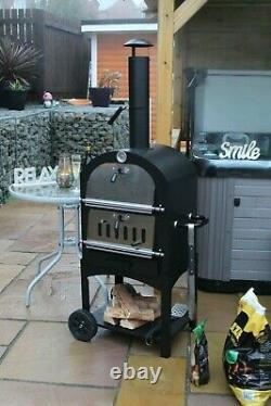 Outdoor pizza oven charcoal Wood Fired Bundle, stone, peel and cover included