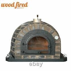 Outdoor wood fired Pizza oven 100cm Prestige blackend brick + cast iron door