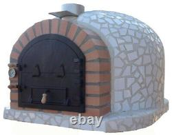Outdoor wood fired Pizza oven 100cm x 100cm superior model white mosaic