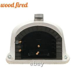 Outdoor wood fired Pizza oven 100cm x 100cm white superior model grey arch