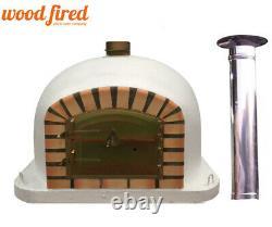 Outdoor wood fired Pizza oven 70cm Deluxe model 50cm chimney & cap