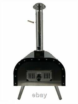 Pizza Oven Outdoor Portable Wood Fired 13 Pizza Oven/Smoker With Shovel