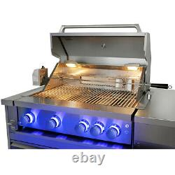 Pro 7-piece Outdoor Kitchen, BBQ grill, hobs, sink, fridge, wood fired pizza oven
