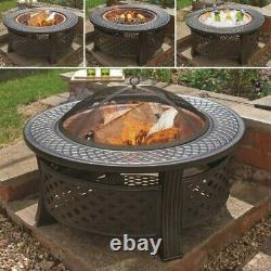 ROUND STEEL FIRE PIT COPPER EFFECT BOWL Brand New