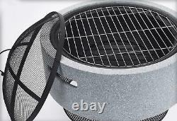 Round Fire Bowl Pit American Style Charcoal BBQ for Outdoor Garden and Patio