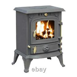Royal Fire 5.5kW Black Cast Iron Outdoor Wood & Charcoal Burning Stove Chiminea