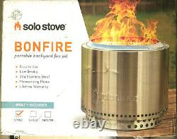 Solo Stove Bonfire Fire Pit with Stand Stainless SSBON-SD 14 in T x 19.5 in W